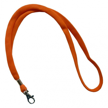 Umhängeband / Lanyards orange Karabinerhaken - 10 Bänder