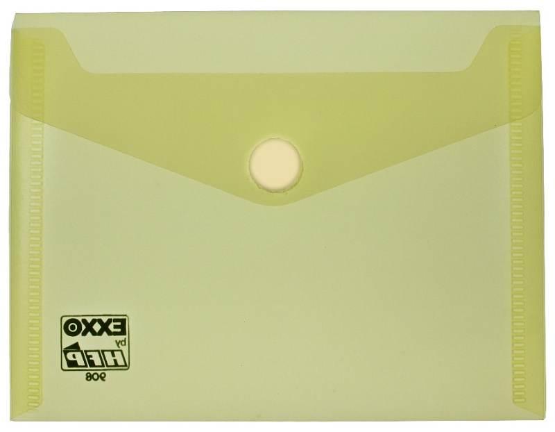 Dokumententaschen Mit Klettverschluss A6 Quer Trans Gelb 10 Stück
