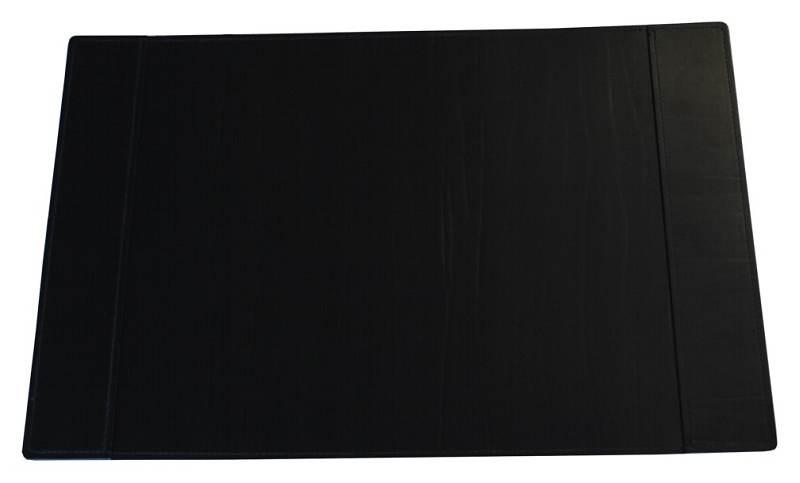 schreibtischunterlage hochwertig aus lederfaserstoff schwarz 58 x 38 cm mit einsteckf cher schwarz. Black Bedroom Furniture Sets. Home Design Ideas