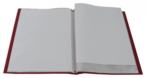 Flexibles Sichtbuch A4 mit 20 Hüllen in transparent rot